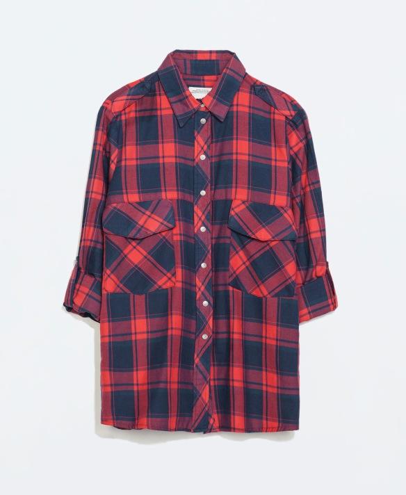 elblogdeanasuero_Camisas de cuadros_Zara roja maxi bolsillos