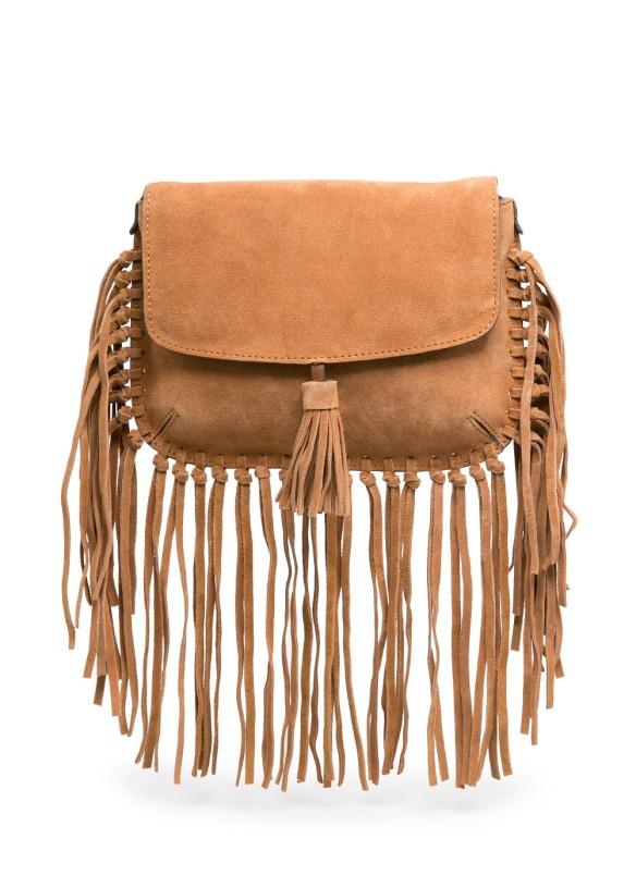 elblogdeanasuero_Tendencia flecos_Mango bolso cruzado serraje camel