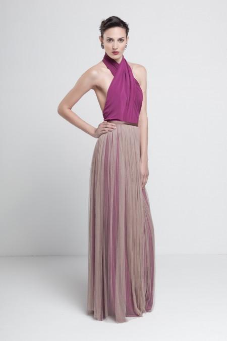 elblogdeanasuero_Invitadas boda otoño-invierno 2014-2015_Colour Nude vestido largo falda de tul y espalda escotadísima
