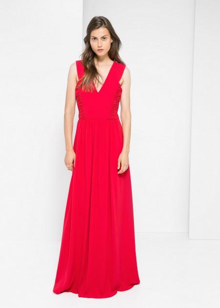 elblogdeanasuero_Invitadas boda otoño-invierno 2014-2015_Mango vestido drapeado rojo
