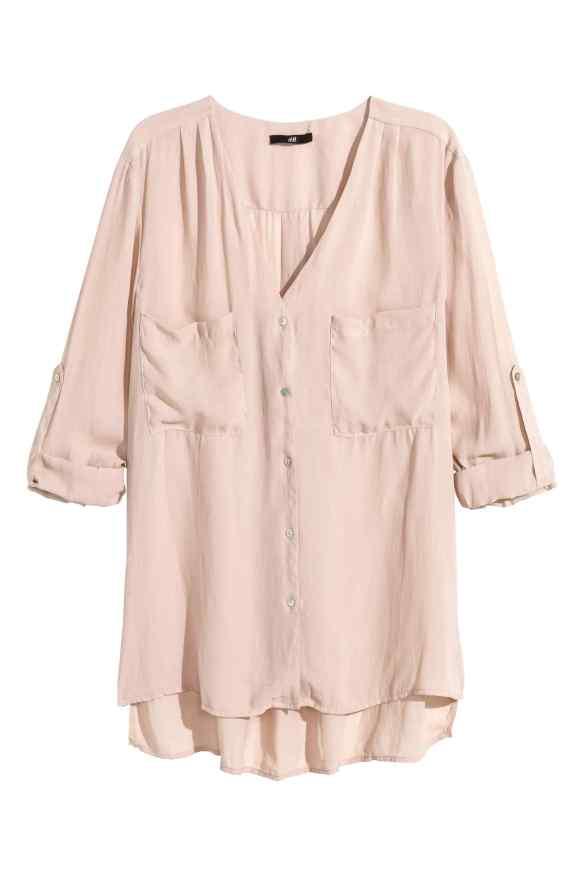 elblogdeanasuero_Rosa para invierno_H&M blusa bolsillos
