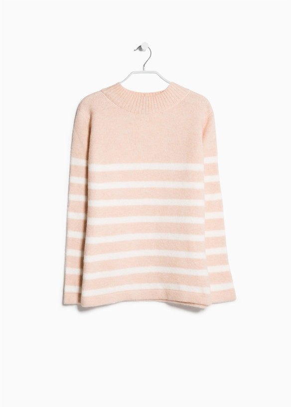 elblogdeanasuero_Rosa para invierno_Mango jersey rayas rosa