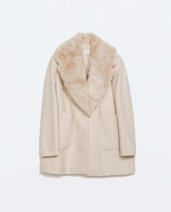 elblogdeanasuero_Rosa para invierno_Zara abrigo de lana con solapas de pelo rosa