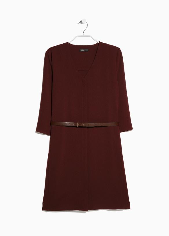elblogdeanasuero_Marsaca color Pantone 2015_Mango vestido de crepé con cinturón