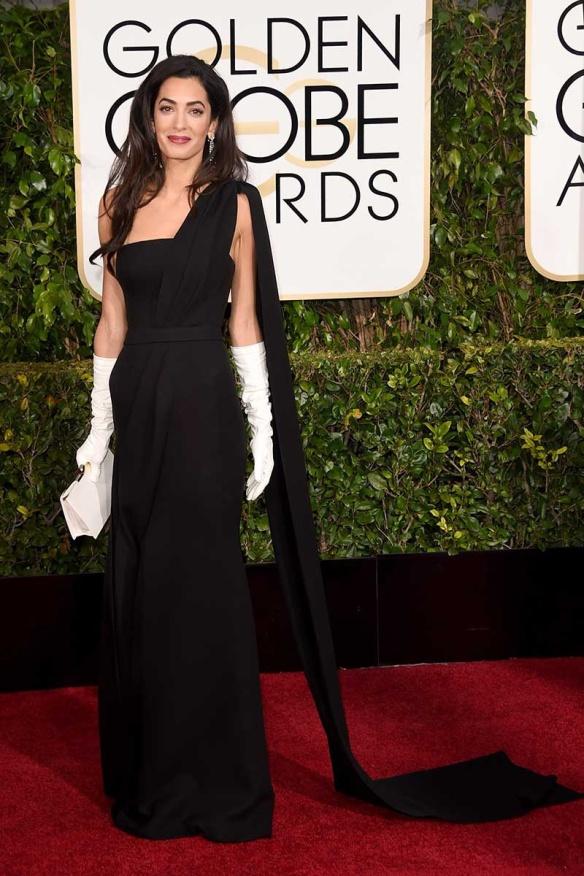elblogdeanasuero_Globos de Oro 2015_Amal Alamoudin Dior negro asimétrico