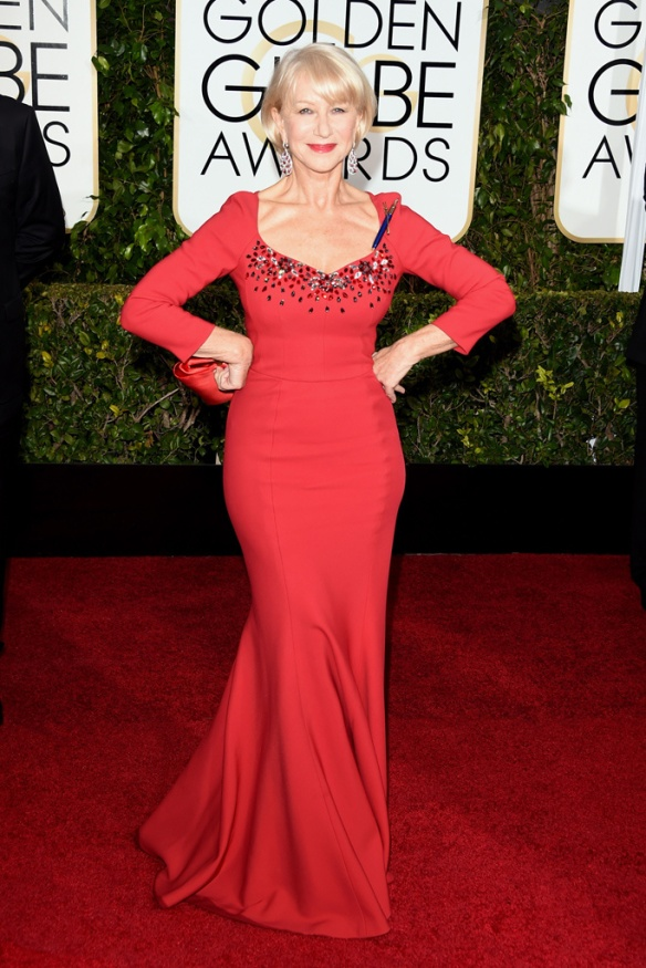 elblogdeanasuero_Globos de Oro 2015_Helen Mirren Dolce & Gabbana vestido rojo