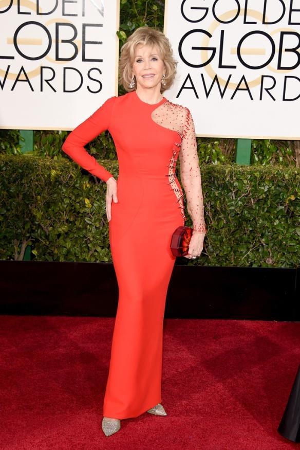 elblogdeanasuero_Globos de Oro 2015_Jane Fonda Versace vestido sirena rojo