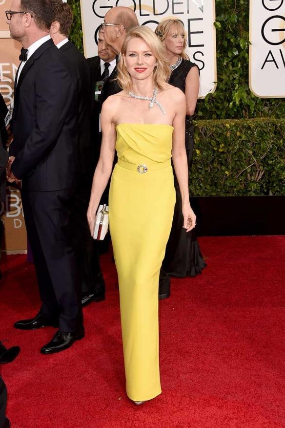 elblogdeanasuero_Globos de Oro 2015_Naomi Watts Gucci amarillo palabra de honor