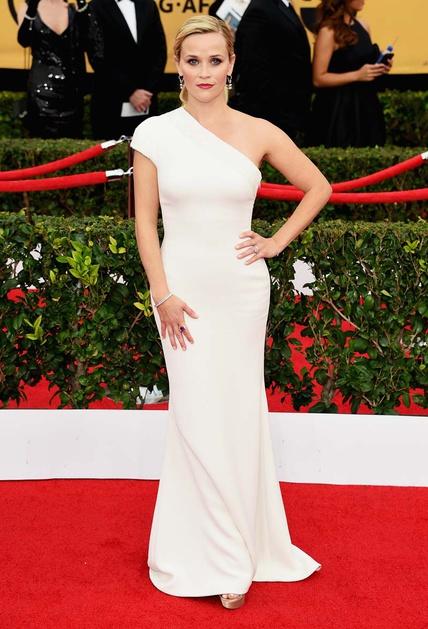 elblogdeanasuero_SAG Awards 2015_Reese Witherspoon Armani blanco vestido minimalista asimétrico