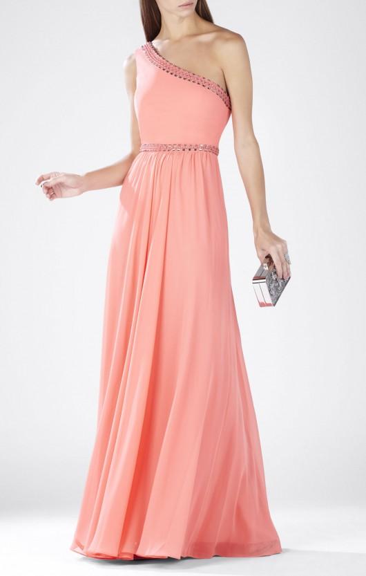elblogdeanasuero-Invitadas boda 2015-BCBG vestido largo asimétrico rosa