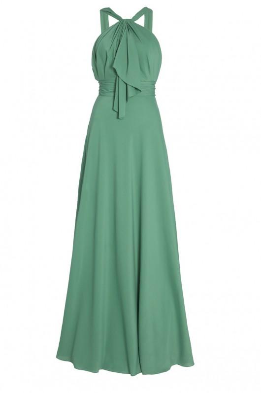 elblogdeanasuero-Invitadas boda 2015-BDBA vestido largo verde escote halter con lazo