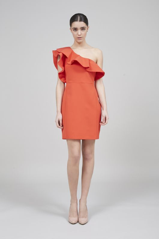 elblogdeanasuero-Invitadas boda 2015-Coosy vestido corto rojo asimétrico con volante