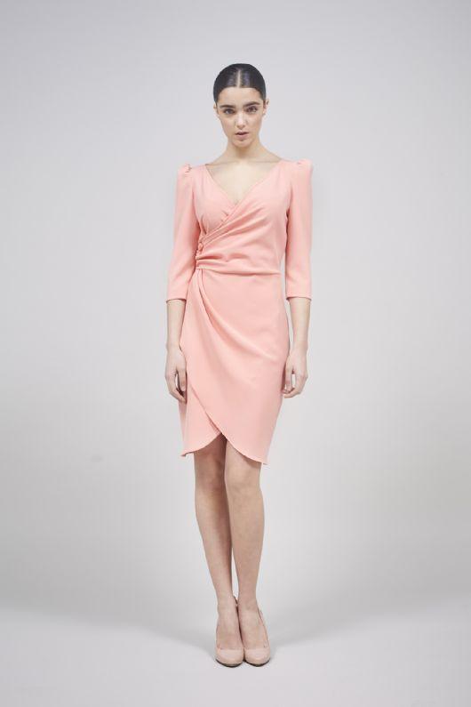 elblogdeanasuero-Invitadas boda 2015-Coosy vestido corto rosa cruzado