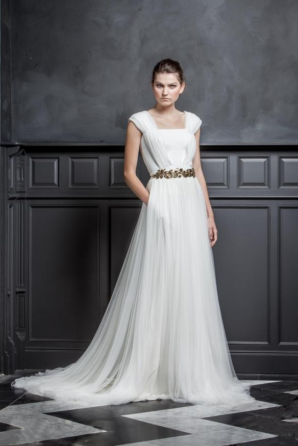 elblogdeanasuero-Vestidos de novia 2015-Colour Nude vestido tul estilo griego