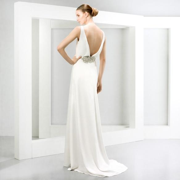 elblogdeanasuero-Vestidos de novia 2015-Jesús Peiró vestido lánguido espalda escotada