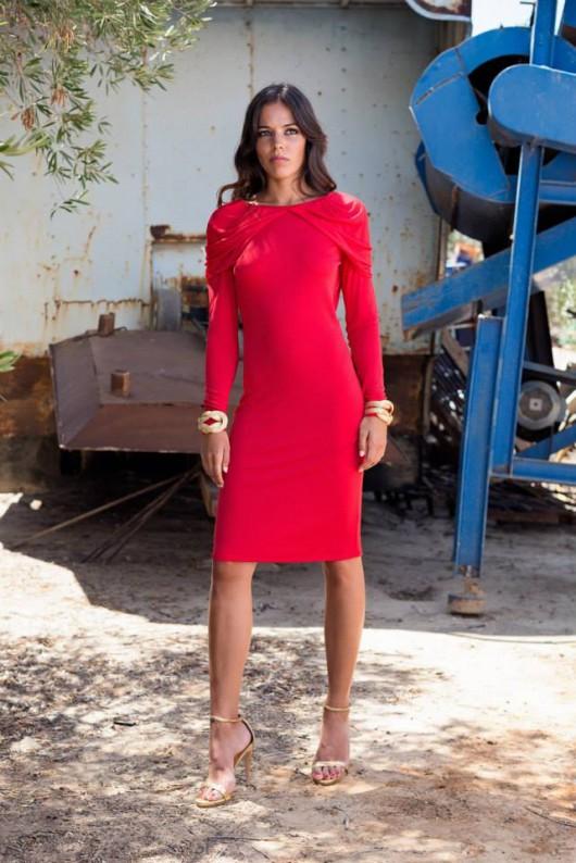 elblogdeanasuero_Invitadas boda 2015_Panambi vestido corto rojo de manga larga