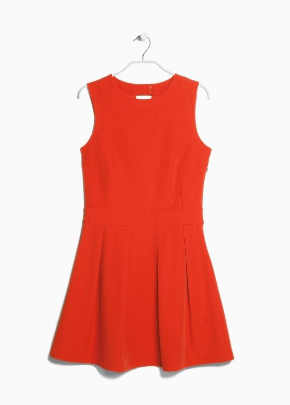 elblogdeanasuero_Pantone Primavera 2015_Mango Color tangerine mini vestido