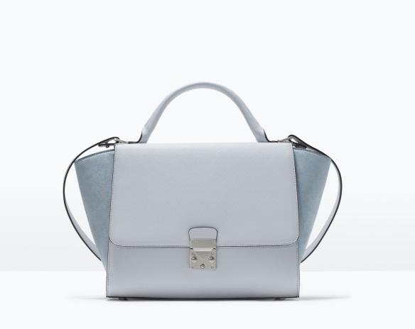 elblogdeanasuero_Pantone Primavera 2015_Zara Color aguamarina bolso trapecio