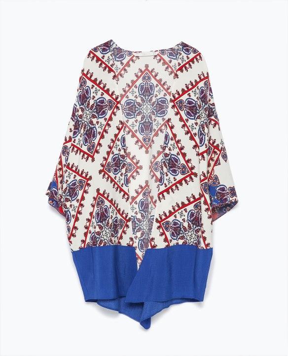 elblogdeanasuero_Kimonos 2015_Zara kimono estampado blanco, azul y rojo