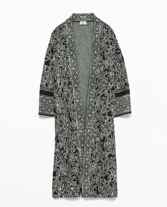 elblogdeanasuero_Kimonos 2015_Zara kimono largo estampado blanco y negro