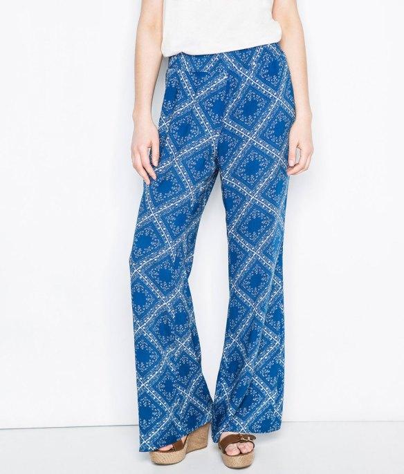 elblogdeanasuero_Pantalon Palazzo_Springfield pantalon palazzo estampado azul