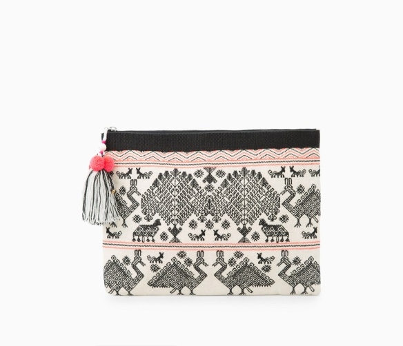 elblogdeanasuero_Clutch estampado_Manogo clutch lino bordado animales
