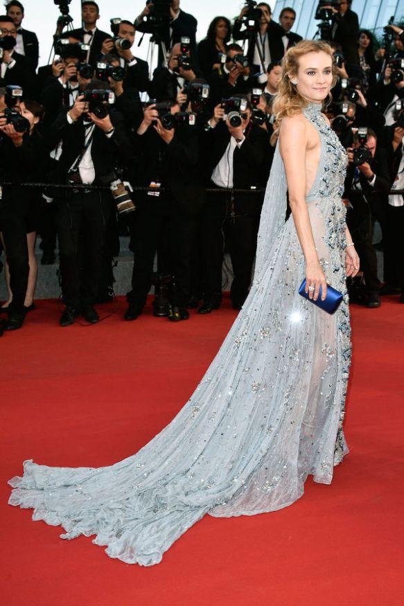 elblogdeanasuero_Festival de Cannes 2015_Diane Kruger vestido largo vaporoso de escote halter de Prada