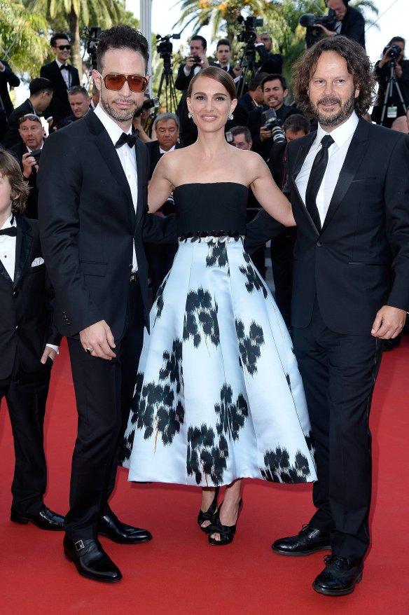 elblogdeanasuero_Festival de Cannes 2015_Natalie Portman vestido midi blanco y negro de Dior