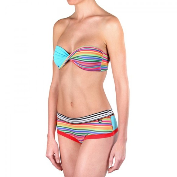 elblogdeanasuero_Bikinis 2015_Bloomers bikini bandeau rayas reversible