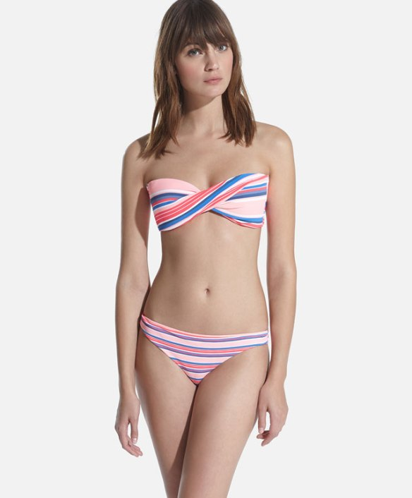 elblogdeanasuero_Bikinis 2015_Oysho bikini bandeau rayas multicolor