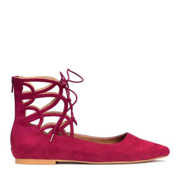 elblogdeanasuero-Bailarinas atadas-H&M bailarina atada al tobillo roja