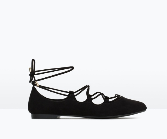 elblogdeanasuero-Bailarinas atadas-Zara TRF bailarina atada negra
