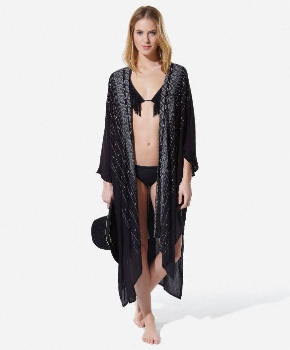 elblogdeanasuero-moda para la playa-Oysho kimono negro para la playa