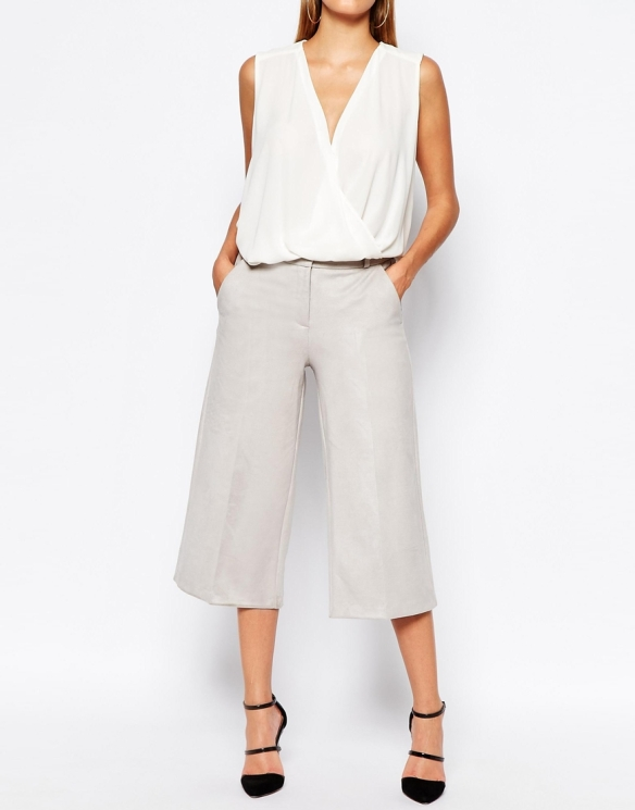 elblogdeanasuero-Pantalón culotte-Asos pantalón culotte con raya gris claro