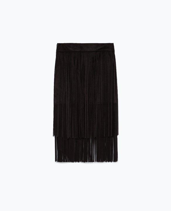 elblogdeanasuero-Tendencia flecos-Zara falda negra con flecos