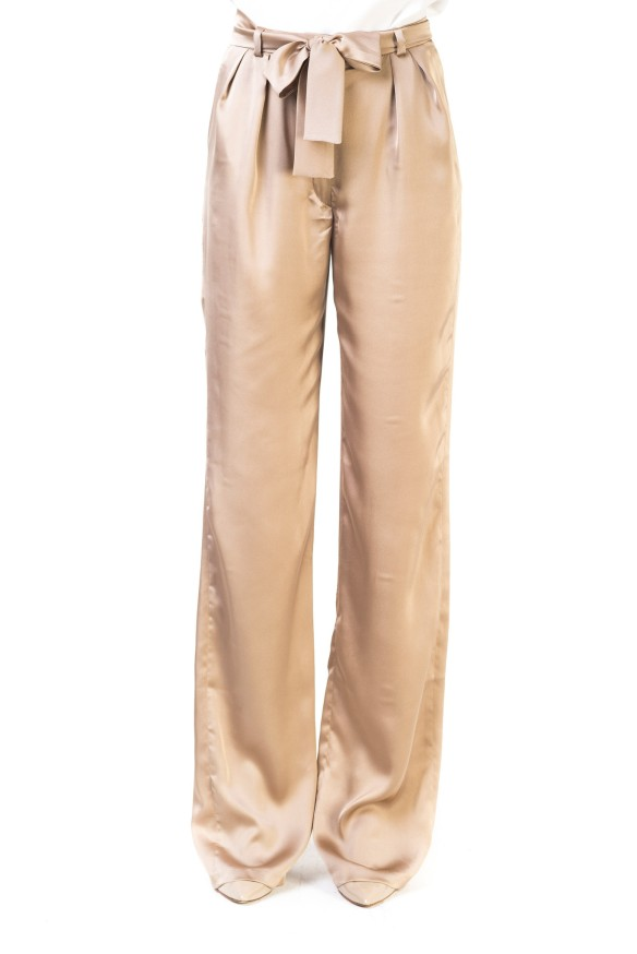 el blog de ana suero-vestidos para invitadas a una boda en otoño invierno-Double Ikkat Pantalón de vestir color champagne