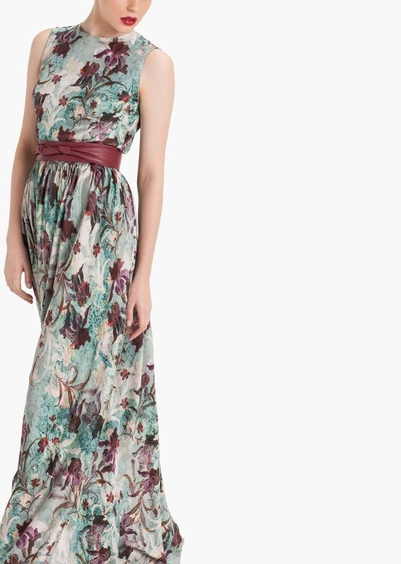 el blog de ana suero-vestidos para invitadas a una boda en otoño invierno-Etxart & Panno vestido largo de flores