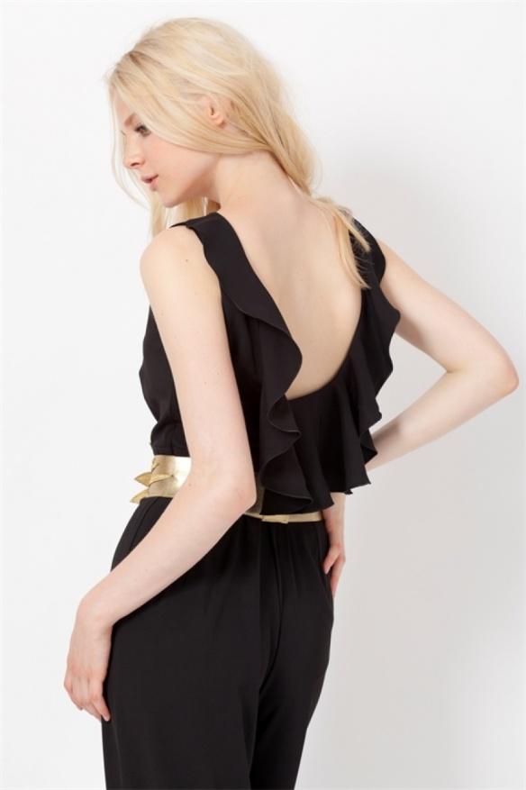 el blog de ana suero-vestidos para invitadas a una boda en otoño invierno-Poete mono negro espalda escotada2