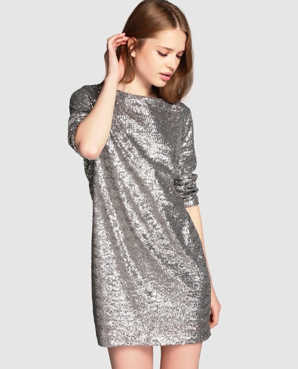 el blog de ana suero_Moda Navidades 2015_El Corte Ingles mini vestido lentejuelas plateado