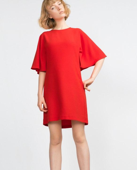 el blog de ana suero_Moda Navidades 2015_Zara mini vestido rojo manga murcielago