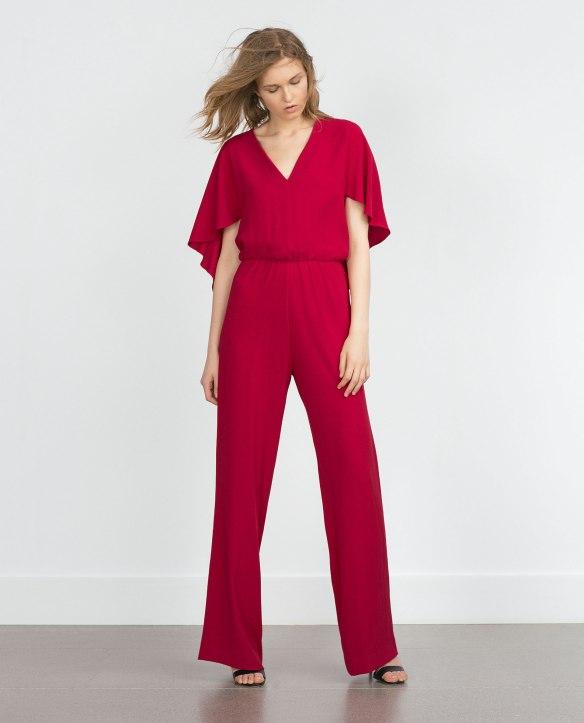 el blog de ana suero_Moda Navidades 2015_Zara mono rojo capa espalda