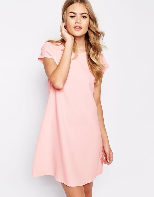 el-blog-de-ana-suero_Rosa cuarzo color pantone 2016-Asos vestido corto vuelo rosa