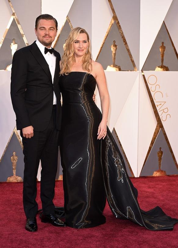 el blog de ana suero-alfombra roja Oscars 2016-Kate Winslet y Leonardo DiCaprio