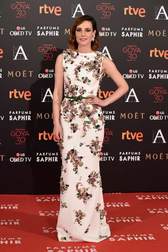 el blog de ana suero-Goyas 2016-Natalia de Molina vestido largo flores Georges Hobeika