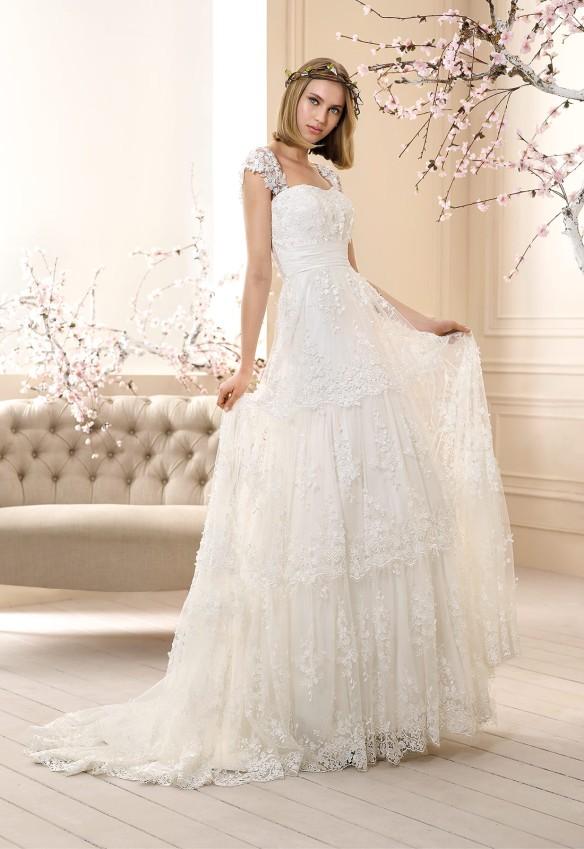 el blog de ana suero-Vestidos novia 2016-Cabotine vestido boho Calvi bordado flores tirantes