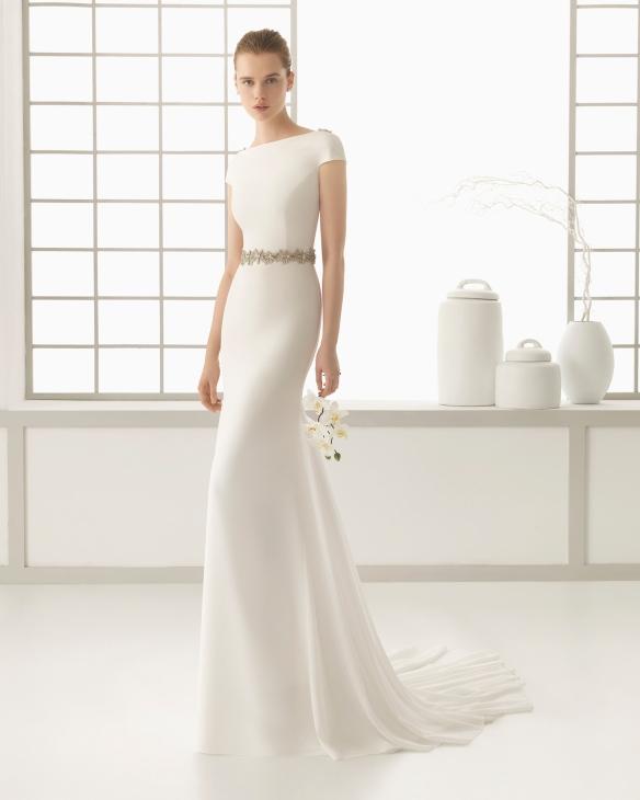 el blog de ana suero-Vestidos novia 2016-Rosa Clara Denise vestido recto escote espalda bordado