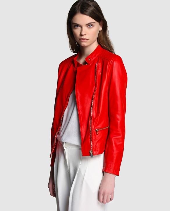 el blog de ana suero-Bikers de moda 2016-El Corte Ingles Elogy cazadora perfecto piel roja