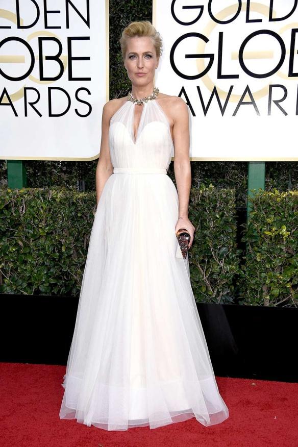 Gillian Anderson Globos de Oro 2017